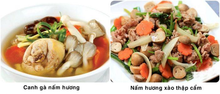 Những món ăn từ nấm hương thơm ngon, bổ dưỡng.