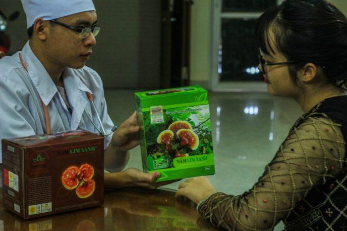 Dùng nấm lim xanh chữa bệnh tiểu đường.