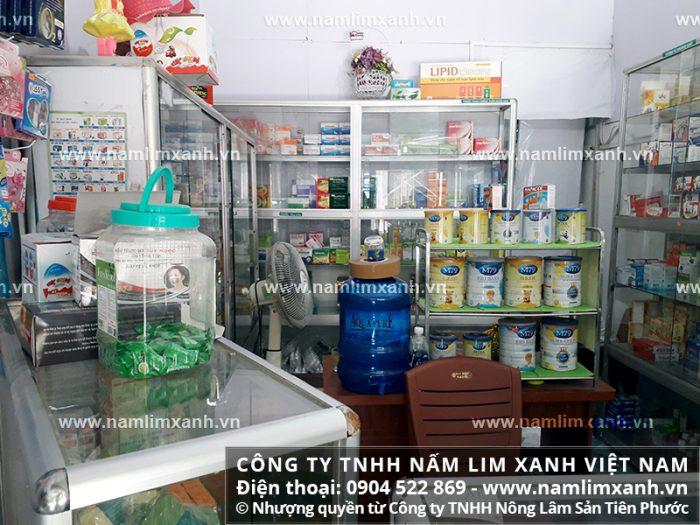 đại lý đang bán nấm lim xanh của công ty tại Vĩnh Long