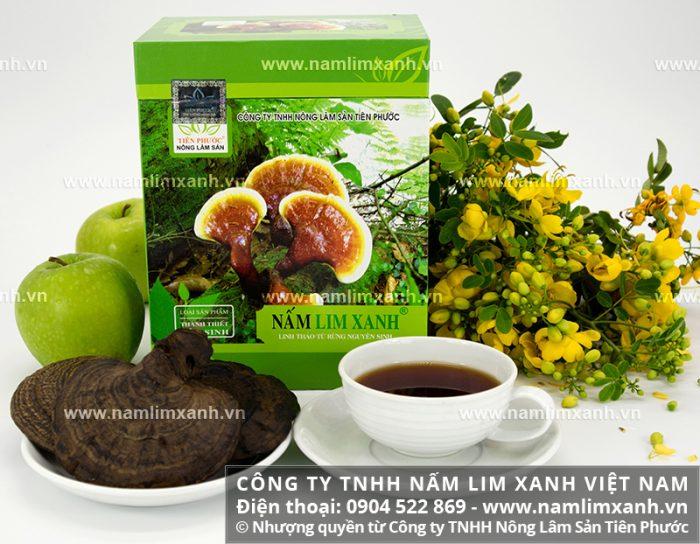 Sản phẩm nấm gỗ lim của Công ty TNHH Nấm lim xanh Việt Nam