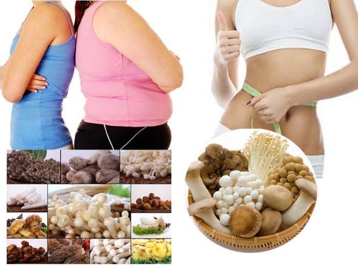 Lợi ích của nấm với sức khỏe - Hỗ trợ giảm cân hiệu quả.