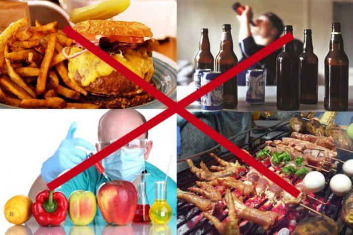 Một số thực phẩm có hại cho người bị ung thư.