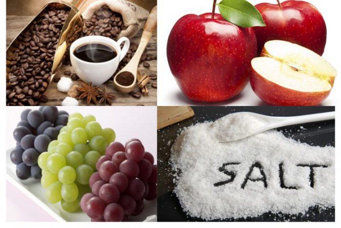 Một số thực phẩm nên có trong chế độ ăn uống cho người huyết áp thấp.