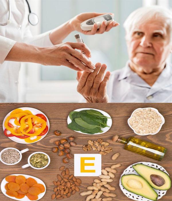Vitamin E giúp phòng ngừa biến chứng tiểu đường.