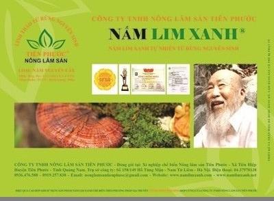 Nấm lim xanh Việt Nam đạt Top 100 Thương hiệu, Nhãn hiệu nổi tiếng năm 2013