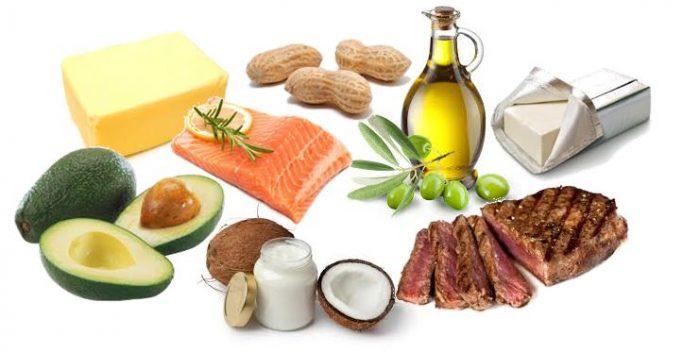 Một số loại thực phẩm được sử dụng trong chế độ Ketogenic
