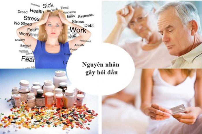 Nguyên nhân hói đầu có thể do di truyền, stress, tuổi tác hoặc dùng thuốc