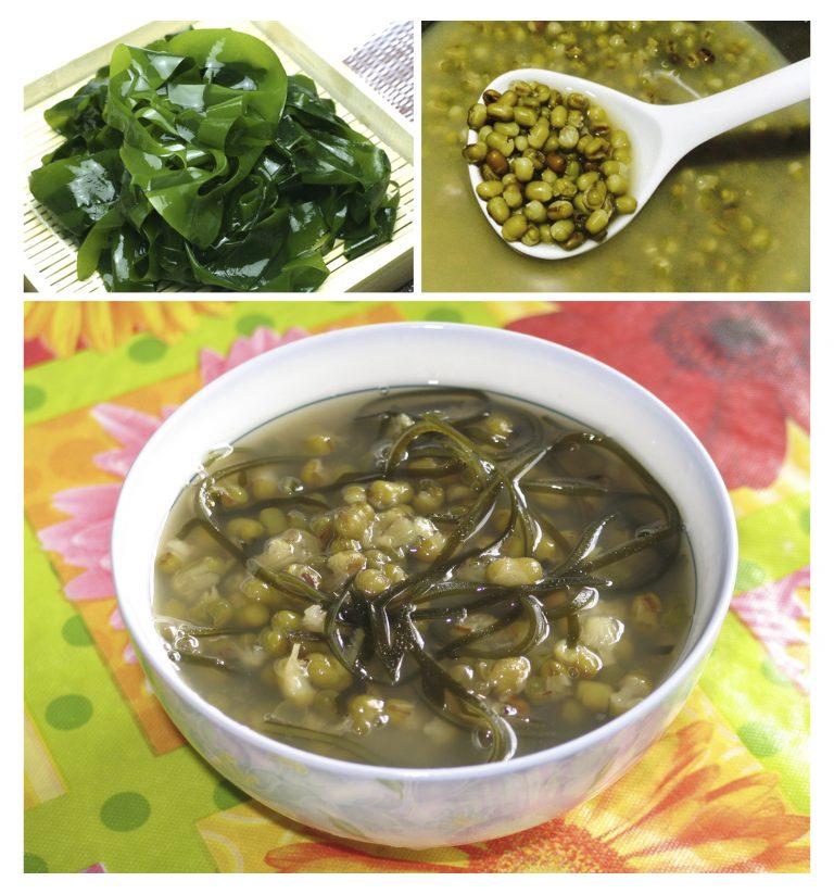 Cháo đậu xanh rong biển - món ăn hỗ trợ điều trị rối loạn mỡ máu không dùng thuốc.