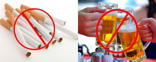 Tuyệt đối không sử dụng rượu bia và thuốc lá để ngăn ngừa đột quỵ tái phát hiệu quả