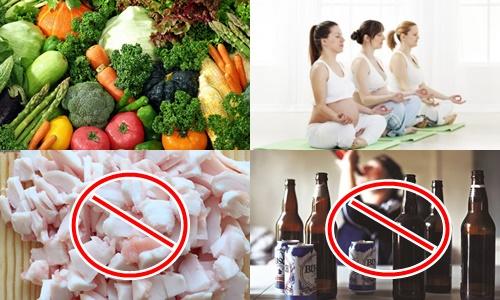 Trị gan nhiễm mỡ khi mang thai bằng rau xanh, thể dục, tránh mỡ và bia rượu