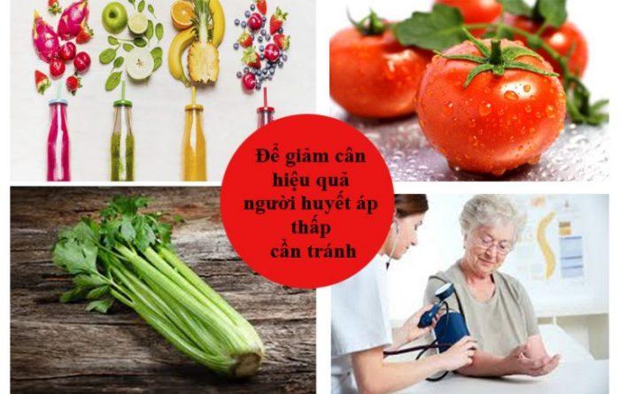 Giảm cân cho người huyết áp thấp cần tránh ăn cà chua, cần tây...