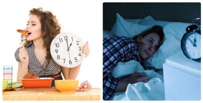 Chế độ ăn uống không hợp lý là lý do phổ biến dẫn đến tình trạng mất ngủ kéo dài
