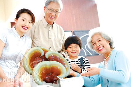 nấm lim xanh chăm sóc sức khỏe người cao tuổi