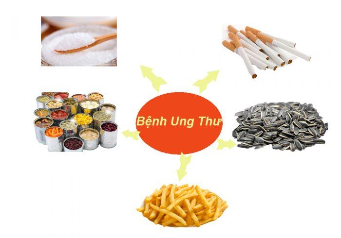 Một số loại thực phẩm nguyên nhân gây bệnh ung thư