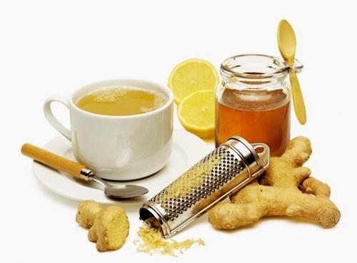 Trà mật ong chanh, gừng giúp giữ ấm cho cơ thể và phòng ngừa các bệnh về phổi.