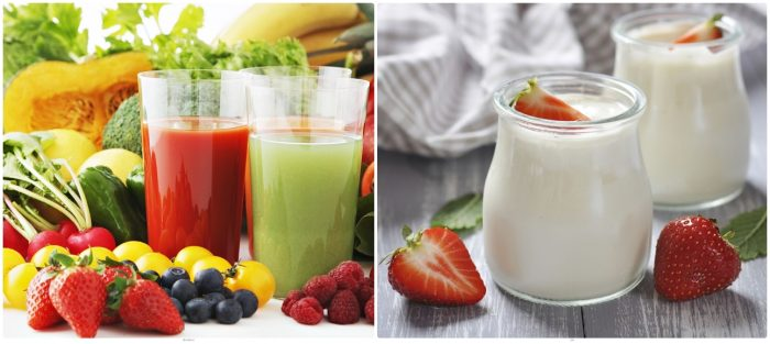 Rau, củ, quả, sữa chua... là những thực phẩm giúp giải độc cho cơ thể hiệu quả.