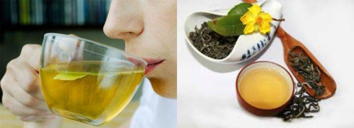 Đồ uống tốt cho người cao huyết áp phải kể đến chè xanh.