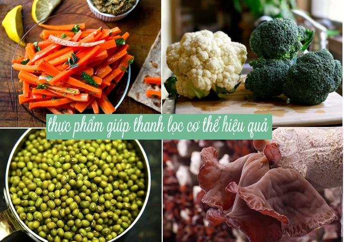 Nhóm thực phẩm nên đưa vào chế độ ăn thanh lọc cơ thể