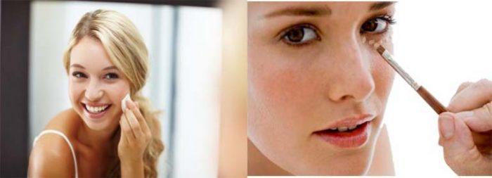 Tuyệt chiêu để trẻ hơn tuổi thật là dùng kem nền/kem che khuyết điểm khi makeup.