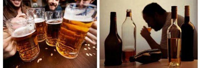 Biến chứng tăng huyết áp không nên dùng rượu bia.