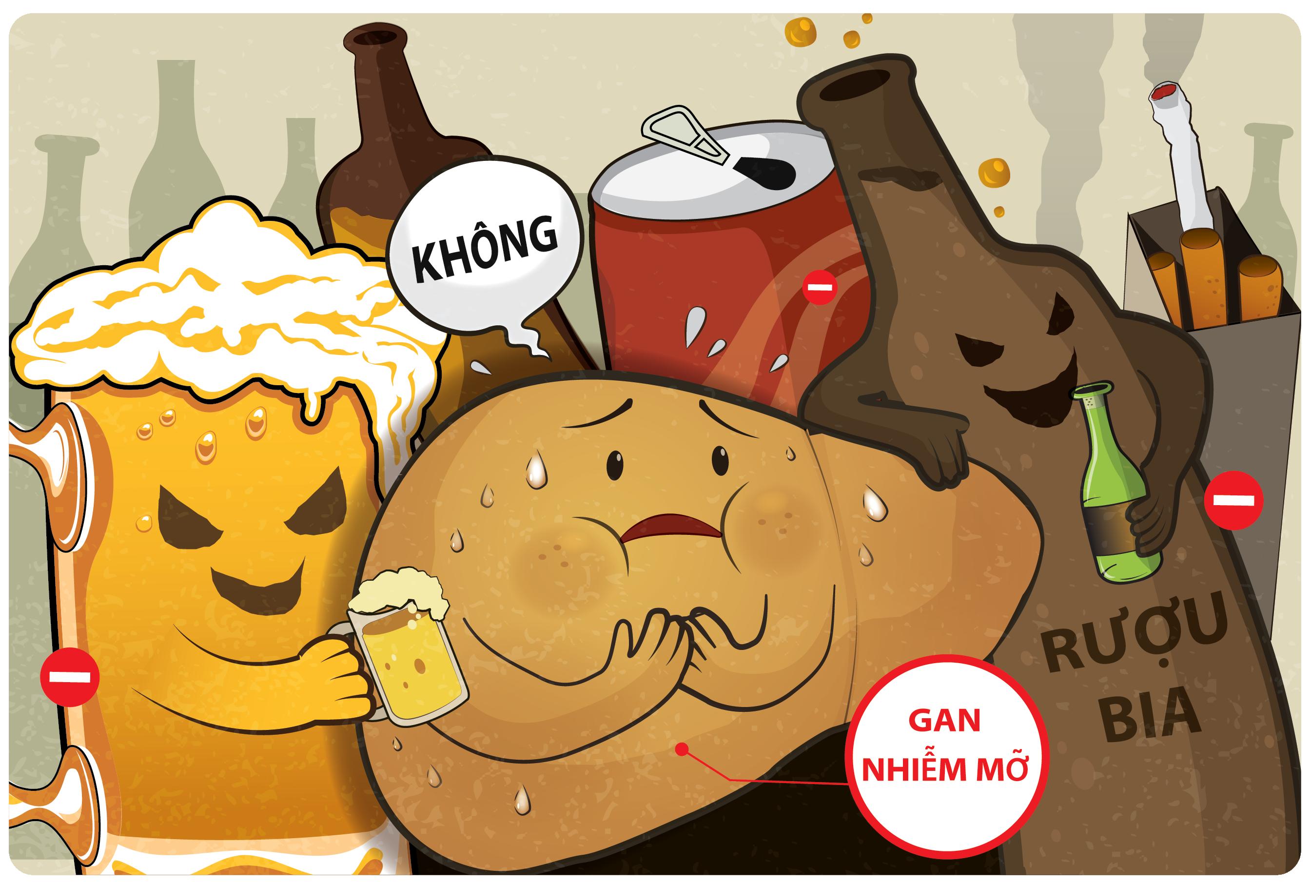 tác hại của bia rượu tới gan