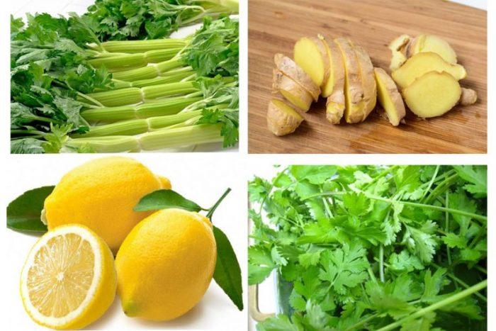Đồ uống giảm mỡ bụng cấp tốc từ chanh, gừng. cần tây... vừa hiệu quả, vừa tốt cho sức khỏe.
