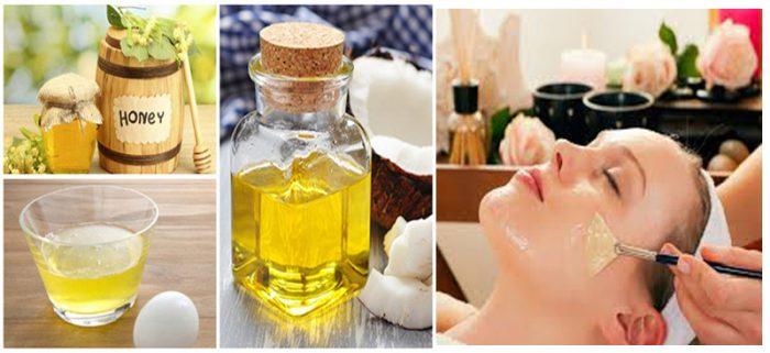 Hỗn hợp dầu dừa và mật ong giúp da trắng sáng.