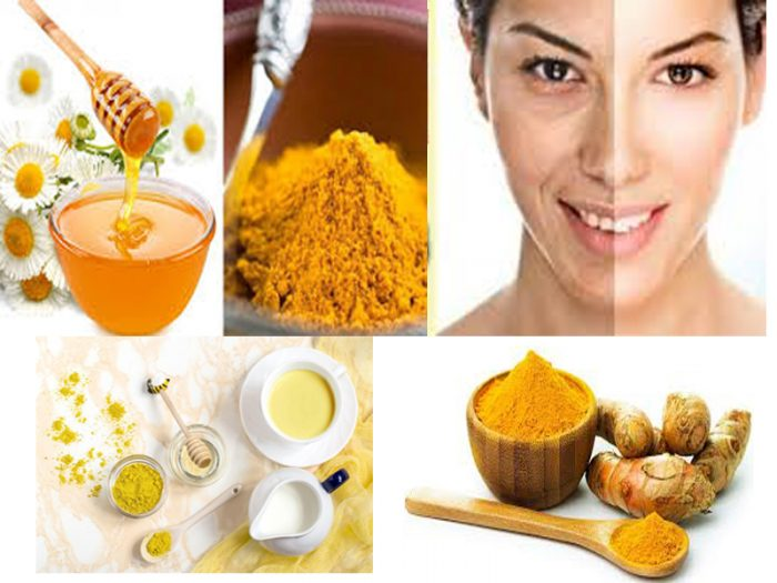 Công thức trắng da từ mật ong và bột nghệ.
