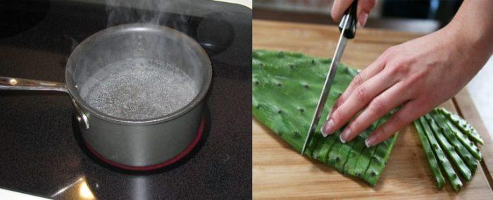 Xương rồng luộc là món ăn đặc sản của người Quảng Nam.