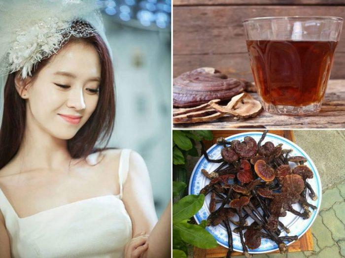 Cách chăm sóc da bằng thực phẩm như nấm lim xanh được xem là bí quyết làm đẹp từ bên trong của các diễn viên Hàn