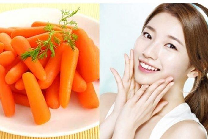 Chăm sóc da bằng thực phẩm như cà rốt là phương pháp đơn giản, hiệu quả