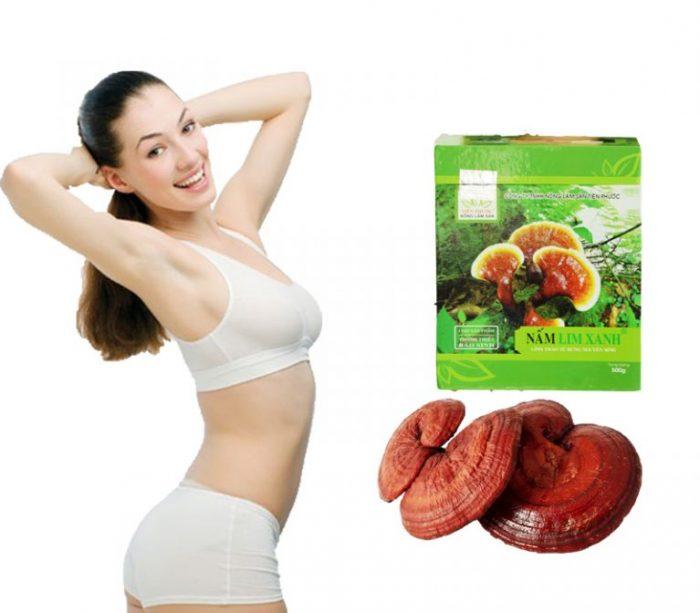Giảm mỡ bụng sau sinh hiệu quả bằng nấm lim xanh thiên nhiên