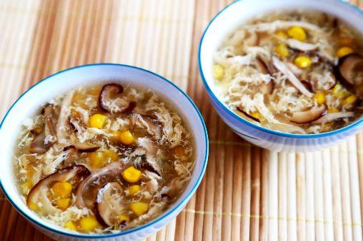 công thức súp gà nấm hương