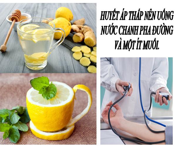 Chế độ ăn chữa huyết áp thấp nên bổ sung nước chanh.