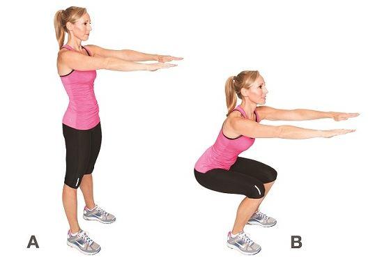 Tập squat giảm cân sau sinh