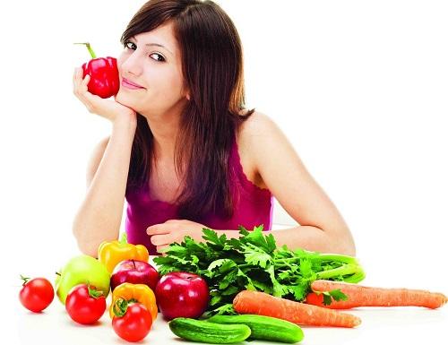 Thực phẩm tươi sạch, chứa nhiều chất xơ, khoát chất giúp phòng bệnh ung thư hiệu quả