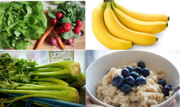Cách hạ huyết áp tại nhà nhanh chóng, an toàn với một số thực phẩm như cần tây, cà rốt, củ cải đường, chuối, rau xanh, yến mạch...