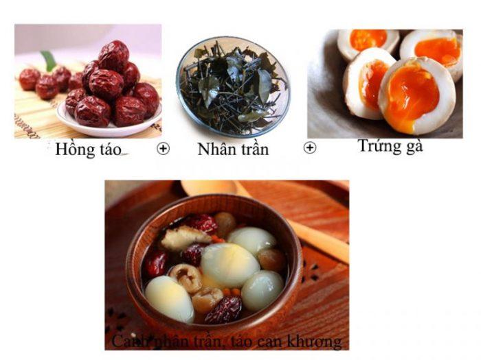 Chế độ dinh dưỡng cho người viêm gan B nên có món canh nhân trần nấu táo.