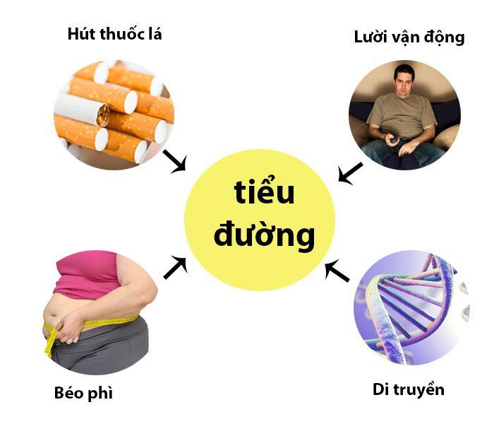 Một số nguyên nhân gây bệnh tiểu đường.