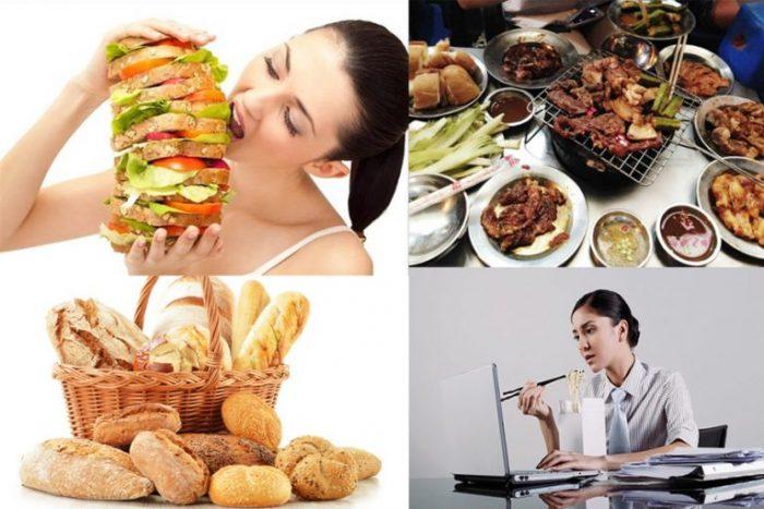 Ăn uống không điều độ là nguyên nhân gây bệnh máu nhiễm mỡ