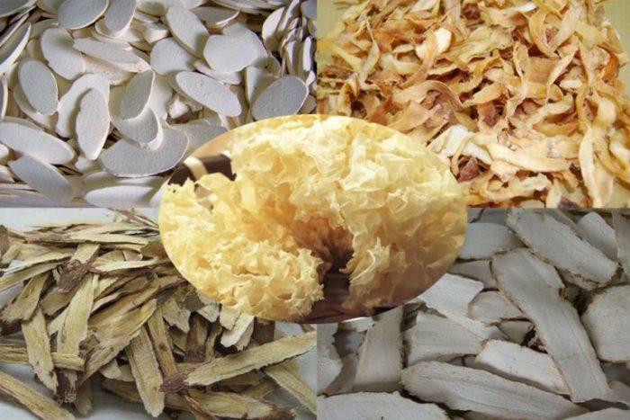 Các nguyên liệu chế biến kem dưỡng da mộc nhĩ trắng
