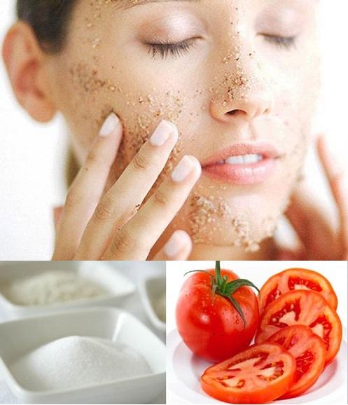 Đường kết hợp với cà chua có thể tẩy sạch tế bào chết