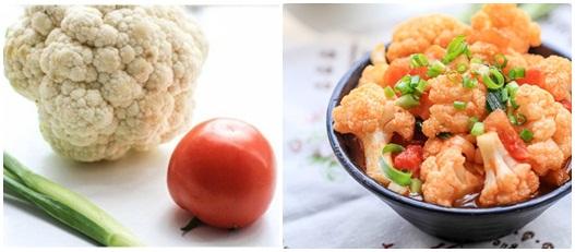 Súp lơ xào cà chua là món ăn tốt cho người bị bệnh gan.