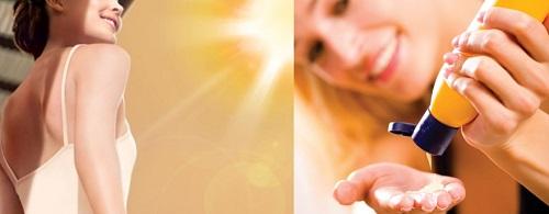 Sử dụng kem chống nắng để bảo vệ da dưới ánh nắng mặt trời