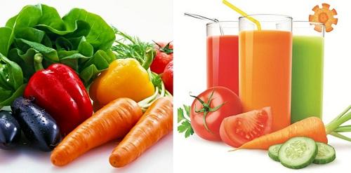 Bổ sung dưỡng chất từ rau củ quả tươi