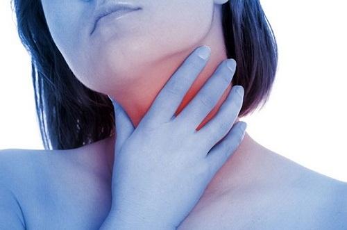 Đau và khó nuốt là một trong những biểu hiện của ung thư cổ họng