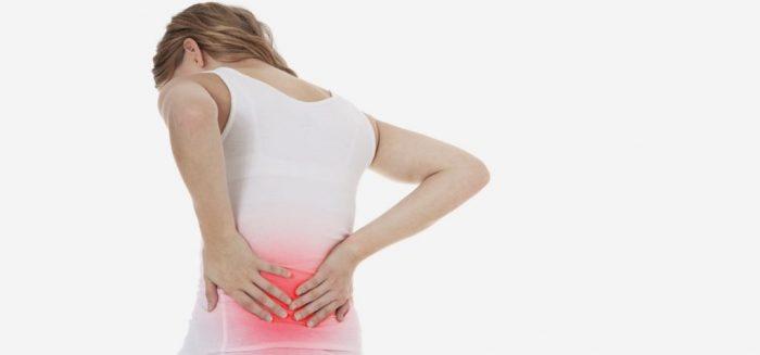 Biểu hiện của ung thư cổ tử cung là đau lưng.
