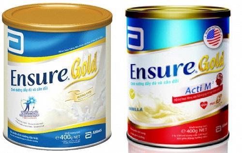 Sữa ensure cho người bị ung thư.