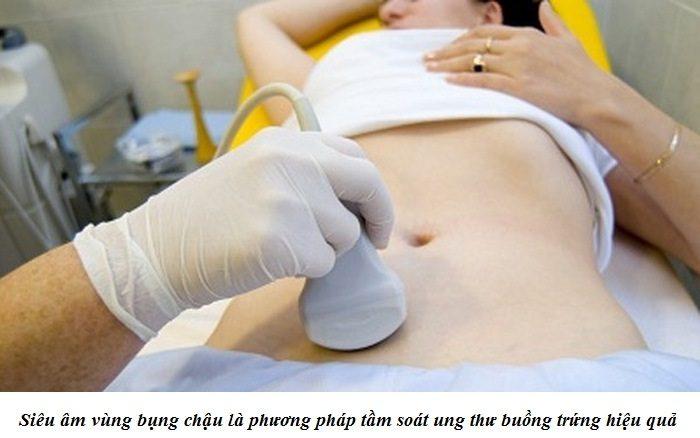 Siêu âm vùng bụng chậu là phương pháp tầm soát ung thư buồng trứng