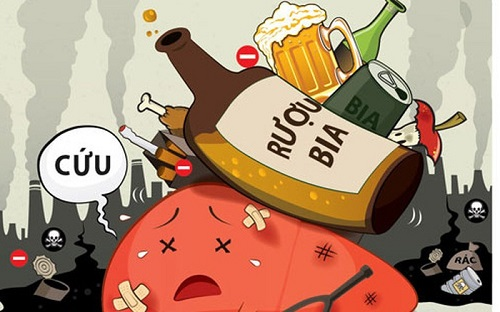 Rượu bia chính là yếu tố gây bệnh ung thư gan hàng đầu